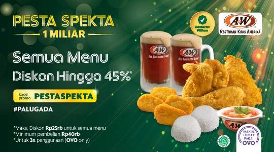 Harga Menu, Review dan Foto A&W - Paris Van Java